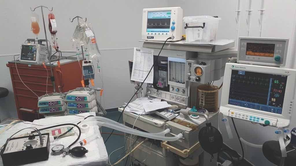 Equipment used by the Veterinary Anaesthesia service at Davies Veterinary Specialists